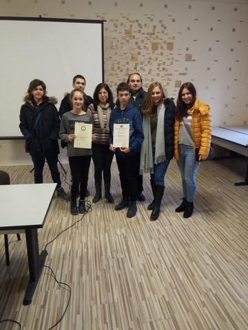 Първо място на Националното състезание по математическа лингвистика